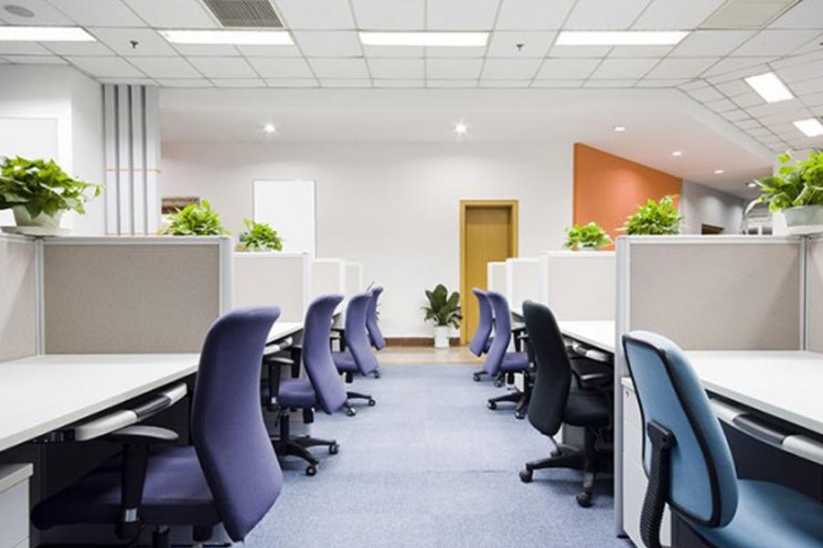 office conference room in milton keynes following office cleaning team visit