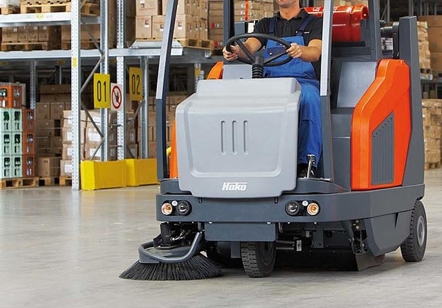 Hoko industrial floor cleaner used for Warehouse Cleaning in Northampton