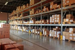 clean and organised warehouse ready for work day ahead