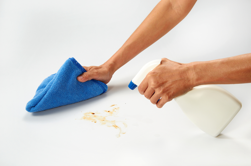 cleaning on a table