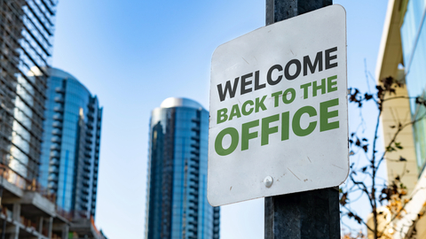 back tot he office sign